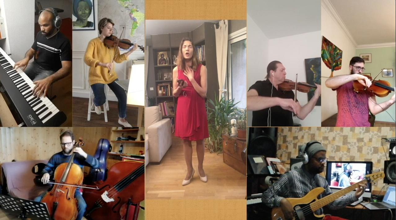 Régine et les musiciens